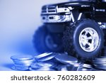 close up of tire of miniature... | Shutterstock . vector #760282609