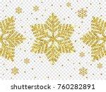 christmas golden snowflake... | Shutterstock .eps vector #760282891