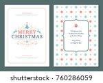 christmas greeting card design... | Shutterstock .eps vector #760286059