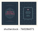 christmas greeting card design... | Shutterstock .eps vector #760286071