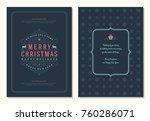 christmas greeting card design... | Shutterstock .eps vector #760286071