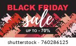 black friday sale poster on a... | Shutterstock .eps vector #760286125