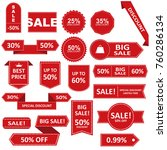 sale label collection. sale... | Shutterstock . vector #760286134