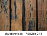 fragment of a wooden fence of... | Shutterstock . vector #760286245