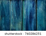 fragment of a blue wooden fence | Shutterstock . vector #760286251