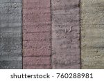 painted wall of cement ... | Shutterstock . vector #760288981