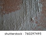 rough plastered wall | Shutterstock . vector #760297495