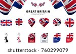 great britain complete set.... | Shutterstock .eps vector #760299079