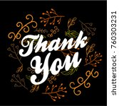 thank you  beautiful greeting... | Shutterstock .eps vector #760303231