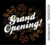 grand opening  beautiful... | Shutterstock .eps vector #760303234