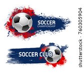 soccer or football sport game... | Shutterstock .eps vector #760305904