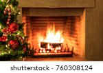 christmas tree close up on... | Shutterstock . vector #760308124