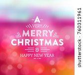 typographic christmas design  ...   Shutterstock .eps vector #760311961