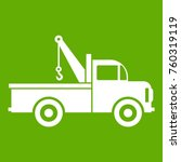 car towing truck icon white... | Shutterstock .eps vector #760319119