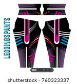 legging pant girl fashion with... | Shutterstock .eps vector #760323337