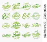 Set Of Organic  Local  Fresh ...