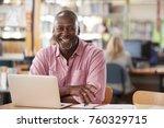 portrait of mature male student ... | Shutterstock . vector #760329715