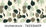 seamless pattern  vintage green ... | Shutterstock .eps vector #760336609