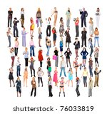 big crowd business men and... | Shutterstock . vector #76033819