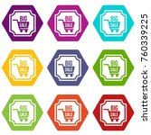 big sale sticker icon set many... | Shutterstock .eps vector #760339225