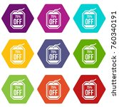 sale tag 75 percent off icon... | Shutterstock .eps vector #760340191