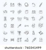 restroom  bathroom icon set.... | Shutterstock .eps vector #760341499