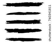 vector black paint  ink brush...   Shutterstock .eps vector #760341811
