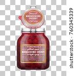 vector open labeled swing top... | Shutterstock .eps vector #760345339