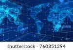 an opt art 3d rendering of the... | Shutterstock . vector #760351294