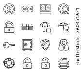thin line icon set   dollar ... | Shutterstock .eps vector #760351621