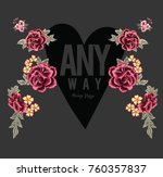 patch embroidery flowers and...   Shutterstock .eps vector #760357837