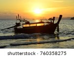 sun reflecting through a boat... | Shutterstock . vector #760358275