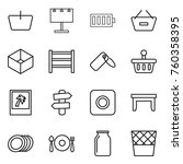 thin line icon set   basket ... | Shutterstock .eps vector #760358395