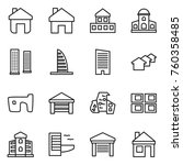 thin line icon set   home ... | Shutterstock .eps vector #760358485