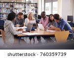 group of mature college... | Shutterstock . vector #760359739