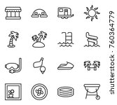 thin line icon set   market ... | Shutterstock .eps vector #760364779