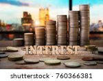 wood with heap and stack of... | Shutterstock . vector #760366381