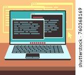 java code on laptop screen....