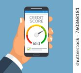 credit score business report on ... | Shutterstock .eps vector #760368181