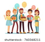 laughing and smiling people...   Shutterstock .eps vector #760368211