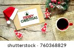 merry christmas word concept | Shutterstock . vector #760368829