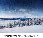 dairy star trek in the winter... | Shutterstock . vector #760369414