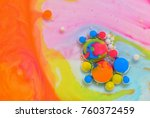 macro colors created by oil and ... | Shutterstock . vector #760372459