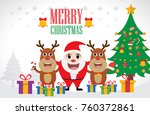 christmas santa claus and... | Shutterstock .eps vector #760372861
