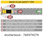 snow plow safety tips. flat... | Shutterstock .eps vector #760374274