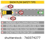 snow plow safety tips. flat... | Shutterstock .eps vector #760374277
