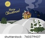 winter landscape with christmas ... | Shutterstock .eps vector #760379437