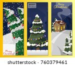 winter landscape with christmas ... | Shutterstock .eps vector #760379461