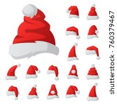 santa claus fashion red hat... | Shutterstock .eps vector #760379467