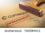 3d illustration of rubber stamp ... | Shutterstock . vector #760384411